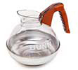 Coffee Decanter Decaf with Stainless Steel Base