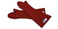 "24"" Red Terry Cloth Oven Mitts"