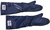 "24"" Blue Quick Clean Oven Mitts"